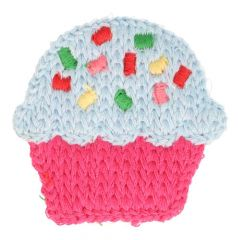 Patches Knitted cupcake big - 5pcs