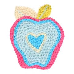 Embroidered patches apple - 5 pcs