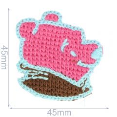 Patch knitted bear 45x45mm - 5pcs