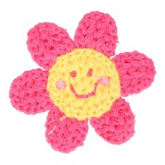 Patches Knitted Flower with face - 5pcs