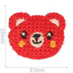 Patch knitted bear 31x25mm - 5pcs