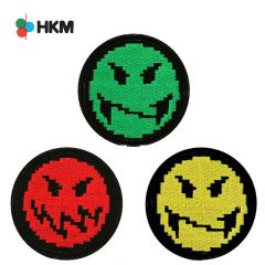 HKM Iron-on patch smileys gaming - 3pcs