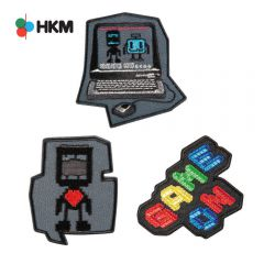 HKM Iron-on patch robot - 3pcs