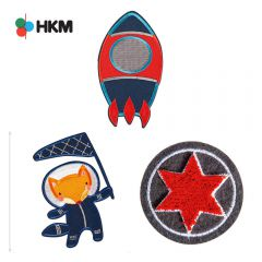 HKM Iron-on patch space - 3pcs