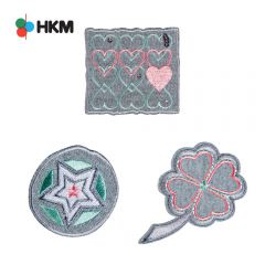 HKM Iron-on patch clover-heart-star - 3pcs