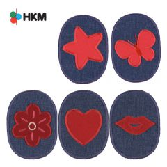 HKM Iron-on knee patches for children denim - 5pcs