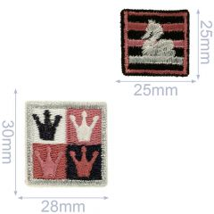 HKM Iron-on patch crown-swan - 3pcs