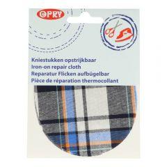 Opry Iron-on knee patches tartan- 5pcs
