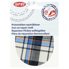 Opry Iron-on knee patches tartan12x9.5cm - 5pcs