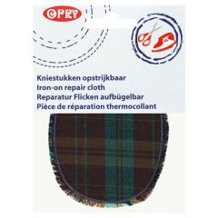 Opry Iron-on knee patches diamond with fringe - 5pcs