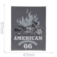 HKM Iron-on patch american 66 - 5pcs