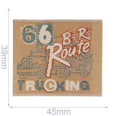 Iron-on patches 66 Big Rig Route Truck - 5pcs