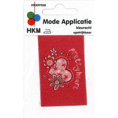 HKM Iron-on patch pretty heart - 5pcs