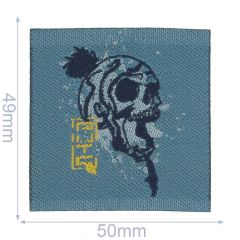 HKM Iron-on patches skull - 5pcs