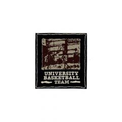 HKM Iron-on patch university basketball team - 5pcs