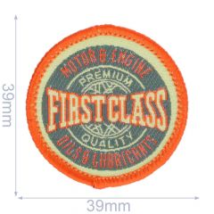 Iron-on patch first class - 5pcs