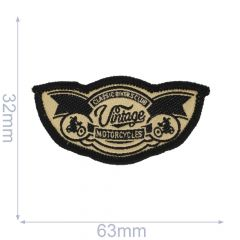 HKM Iron-on patch vintage motorcycles - 5pcs