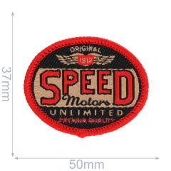 HKM Iron-on patch speed motors unlimited - 5pcs