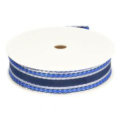 Ribbon striped with stitching 25mm - 25m