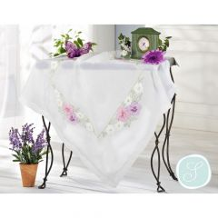 Simy's Embroidery kit table cloth white - 1pc