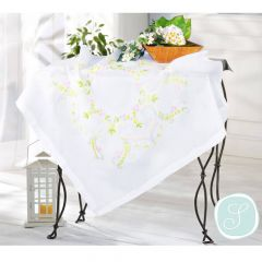 Simy's Studio Embroidery kit table cloth 90x90cm white - 1pc