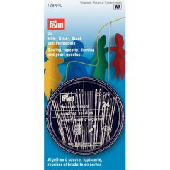 Prym Sewing-embroidery-darning-pearl needles silver - 5x24ps