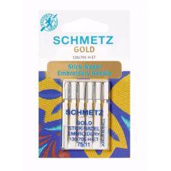 Schmetz Gold Embroidery 5 needles - 10pcs