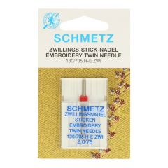 Schmetz Embroidery twin 1 needle - 10pcs