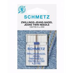 Schmetz Jeans twin 1 needle 4.0-100 - 10pcs