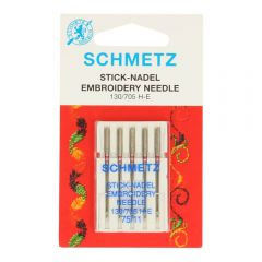 Schmetz Embroidery 5 needles - 10pcs