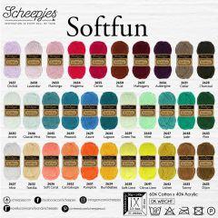 Scheepjes Softfun assortment 5x50g - 32 colours - 1pc