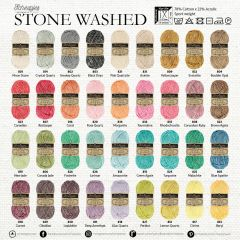 Scheepjes Stone Washed assortment 5x50g - 36 colours - 1pc