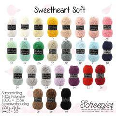 Scheepjes Sweetheart Soft assortm. 5x100g - 27 colours - 1pc