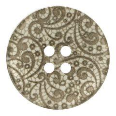 Vintage lace button 4 holes size 24-54 - 25-50pcs