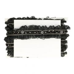 Decorative trim with organza and beads 60mm - 5m