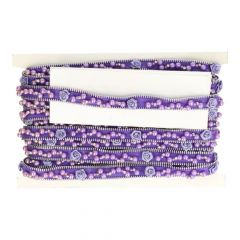 Decorative trim with beads and roses 23mm - 10m