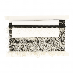 Trim with fringe black-white - 10m