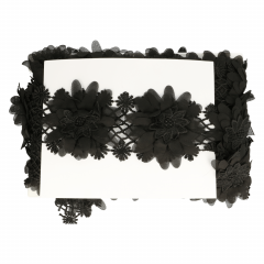 Lace trim with flowers 90mm - 9.5m