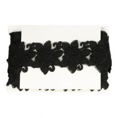 Trim embroidered flowers on tulle - 9.11m