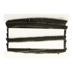 Pleated satin-organza ribbon trim 20mm - 10m