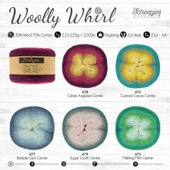 Scheepjes Woolly Whirl assortment 3x1000m - 5 colours - 1pc