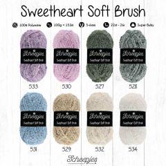 Scheepjes Sweetheart Soft Brush assor. 5x100g - 8 col - 1pc