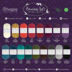 Scheepjes Bamboo Soft assortment 5x50g - 17 colours - 1pc