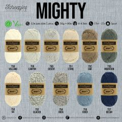 Scheepjes MIGHTY assortment 5x50g - 11 colours - 1pc