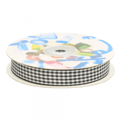 Gingham ribbon 15mm - 25m