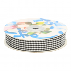 Gingham ribbon 25mm - 25m