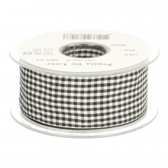 Gingham ribbon 38mm - 25m