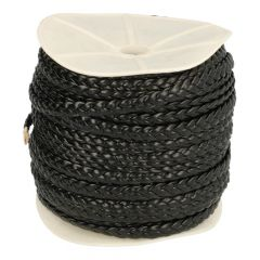 Braided leather wide 6mm 50m