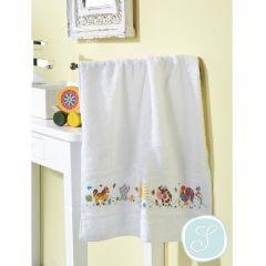 Simy's Studio Embroidery kit towel 50x100cm white - 1pc