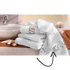 Tissu de Marie Embroidery kit towel 50x100cm white - 1pc